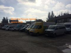 auto parts and service vans Mercedes, Renault and Volkswagen
