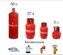 Household propane gas cylinder new