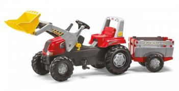 Педальний трактор з причепом і ковшем Junior RT Rolly Toys 81139